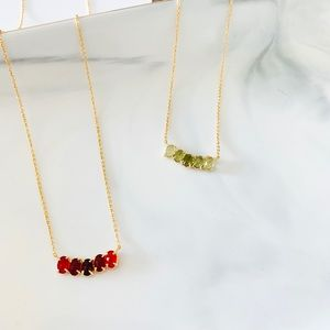 ❗️LAST1❗️Kate Spade Dainty Gem Stone Necklace Red